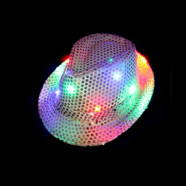 Festive Shiny Sequined Party LED Hat
