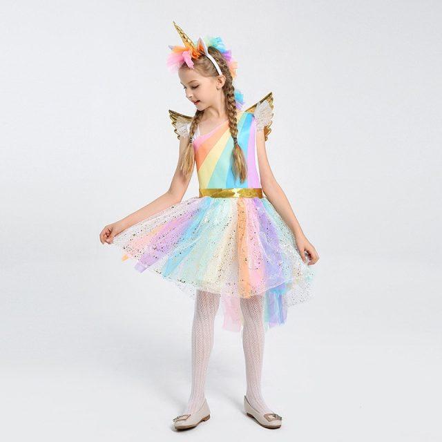 Rainbow Unicorn Costume for Girls