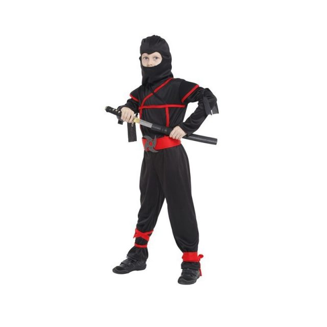 Boy's Black Ninja Costume Set
