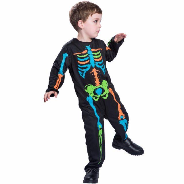 Boy's Colorful Skeleton Costume
