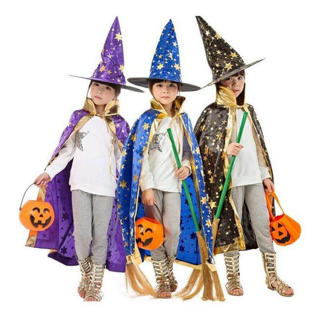 Kid's Wizard Halloween Costume Set