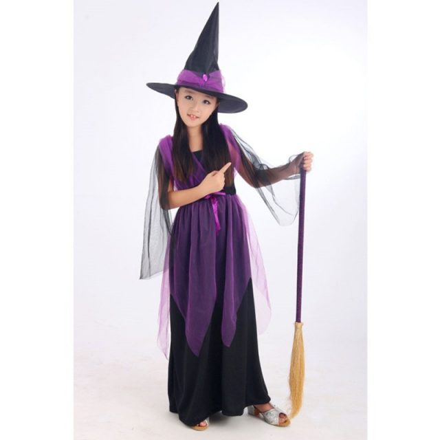 Little Witch Girl's Cosplay Costume