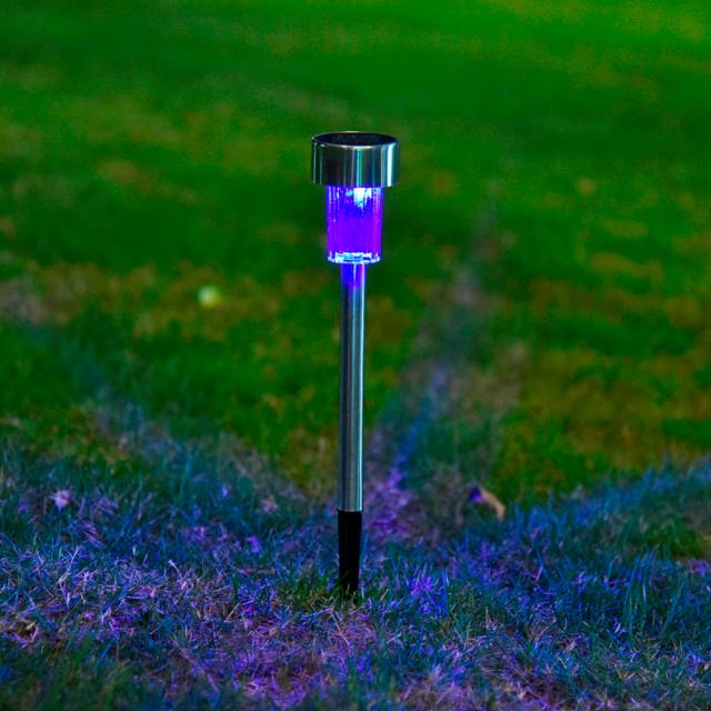 Color Changing Solar Energy Outdoor Lawn Lamps 10 pcs Set