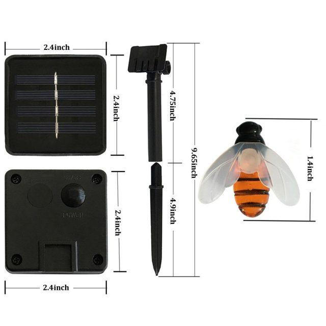 Outdoor Solar Power Bees String Lights