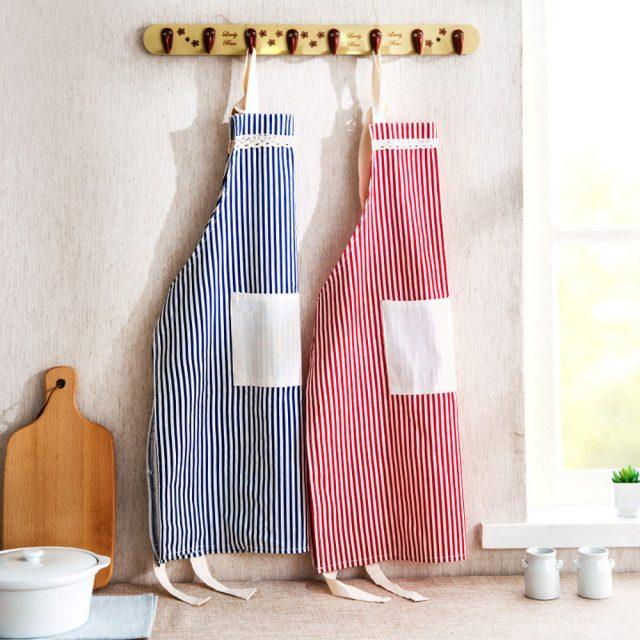 Striped Cotton Kitchen Apron