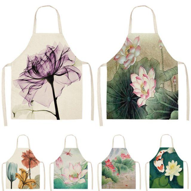 Women's Flower Printed Cotton Apron