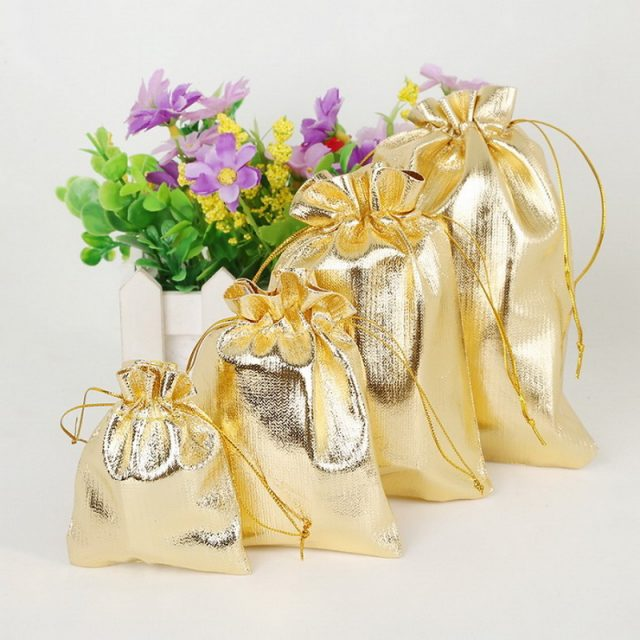50 Pieces of Gold Foil Candy Bag
