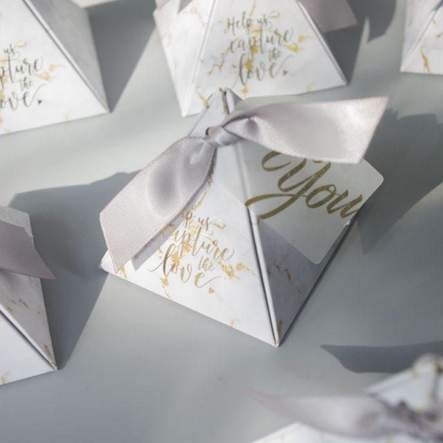 Pyramid Gift Box, 50 Pcs Set
