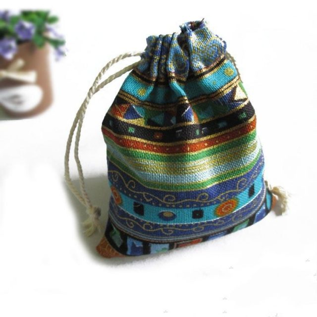 Striped Jewelry Gift Pouches