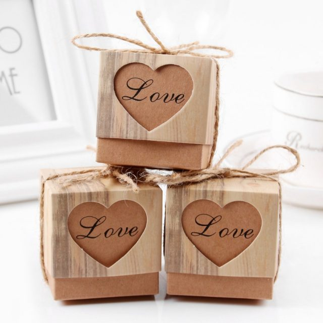 Vintage Candy Box with Heart for Guests
