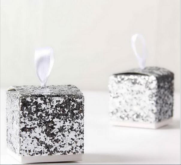 (50/100pcs) Fashion Runaway Glitter Gift Boxes