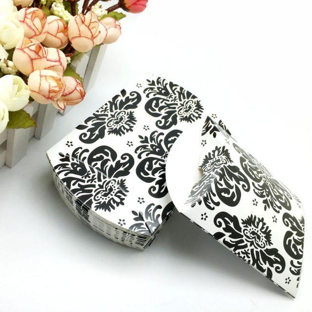 Elegant Black and White Paper Gift Boxes Set