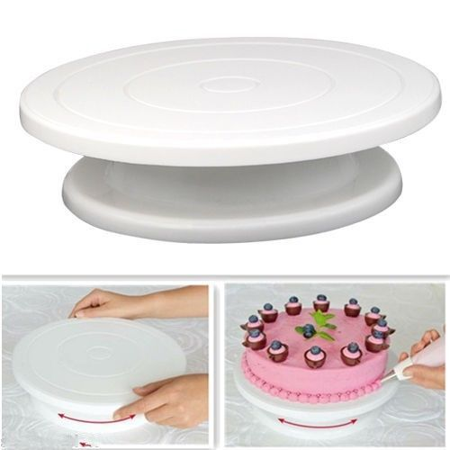 Convenient Rotating Eco-Friendly Plastic Cake Stand