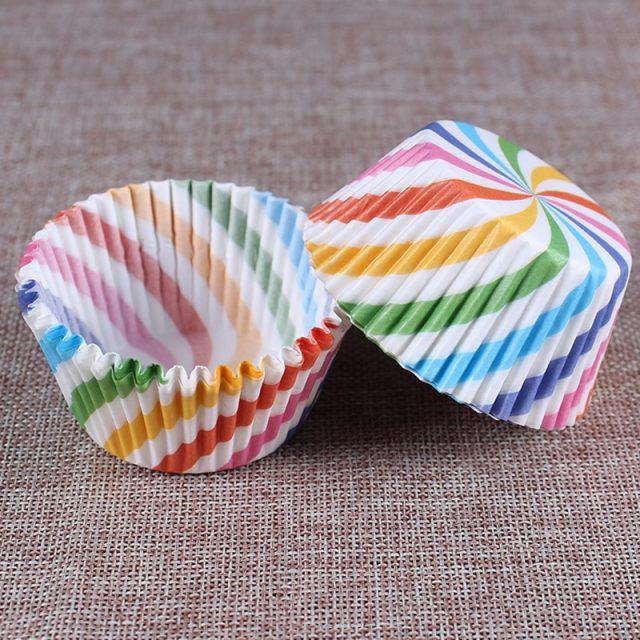 Colorful Paper Cupcake Box 100 pcs Set