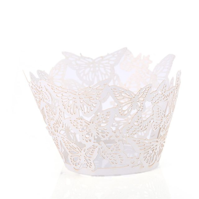 Cute Lace Shaped Eco-Friendly Paper Cupcake Cases Set