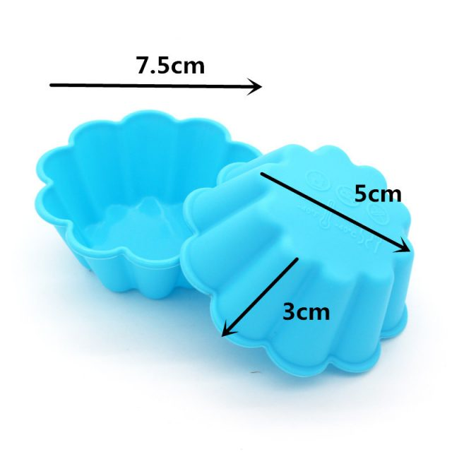 Heat-Resistant Thick Silicone Cake Baking Molds Set