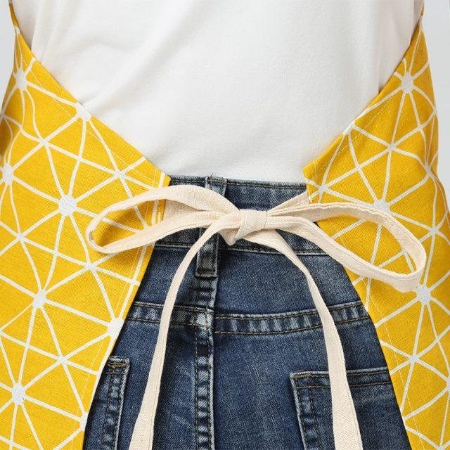 Unisex Geometric Patterned Cotton Apron
