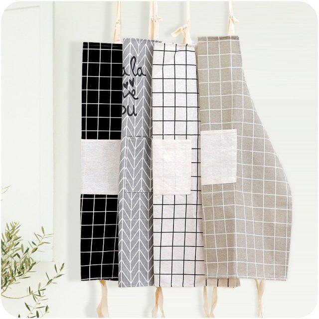 Women's Patterned Cotton and Linen Apron