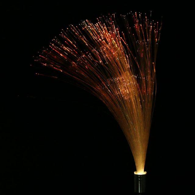 Color Changing Fiber Optic Outdoor Lawn Lamps 2 pcs Set