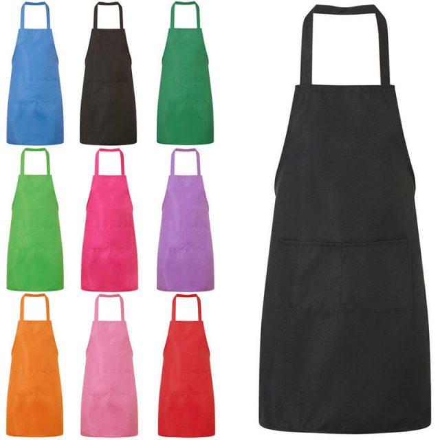 Unisex Solid Color Kitchen Apron