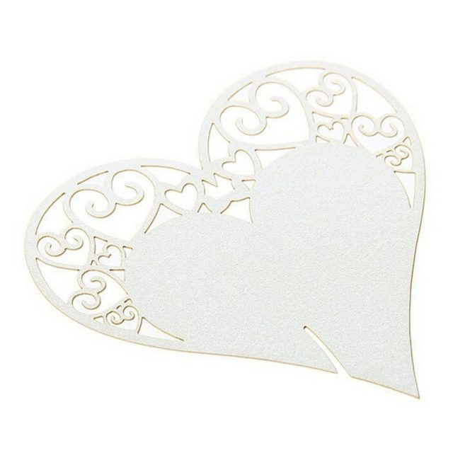 Heart Shaped Wedding Table Decor 50 pcs Set