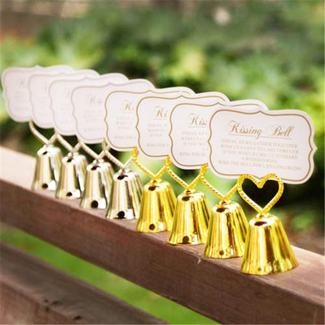 Silver Bell Shaped Place Cards