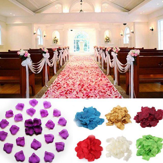 100 Pcs Rose Petals for Wedding Party