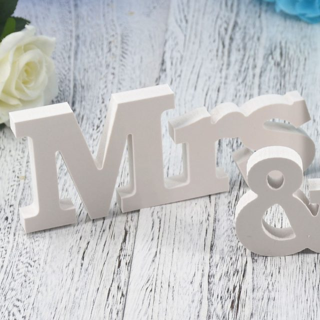 Mr And Mrs Sign Wedding Letters