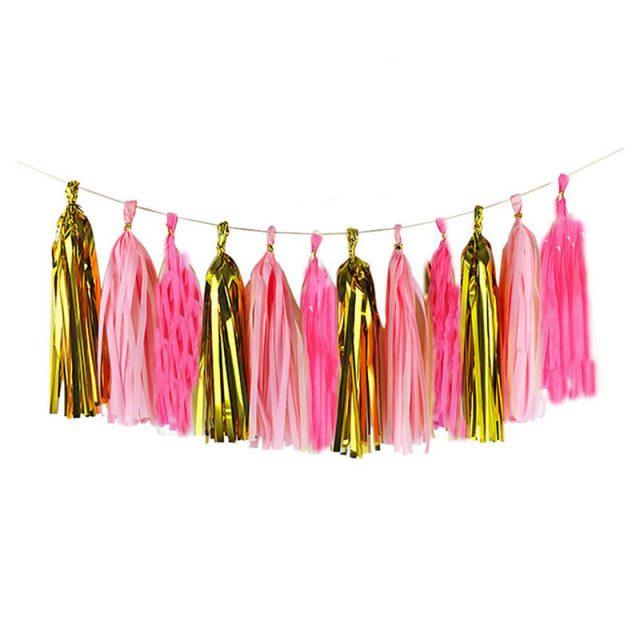 Hanging Colorful Paper Tassels 35 cm