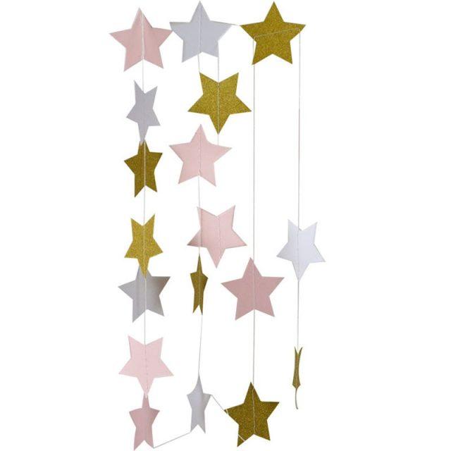 2 Meters Star Shaped Paper Garland