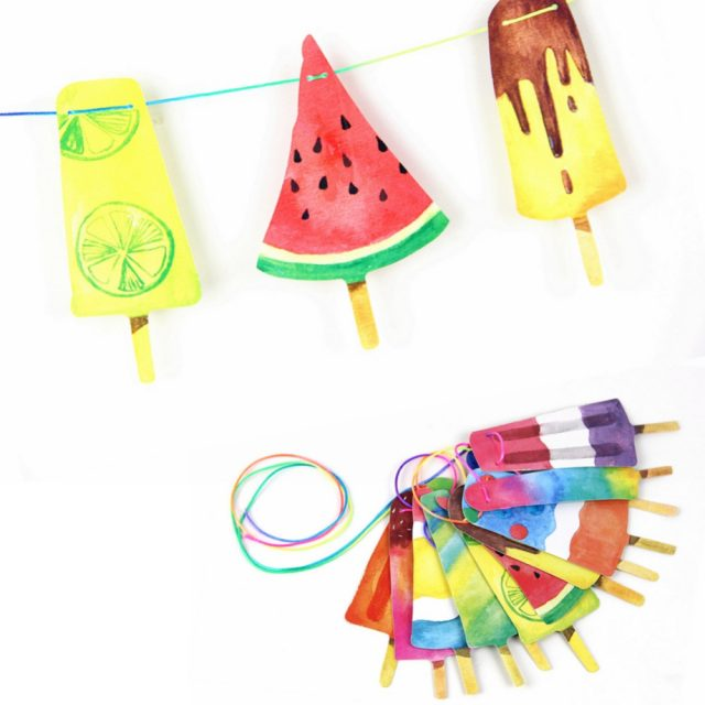 Colorful Ice Cream Shaped Garland