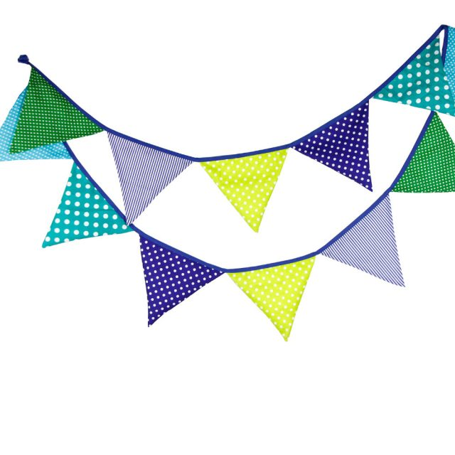Colorful Cotton Flags Party Banner