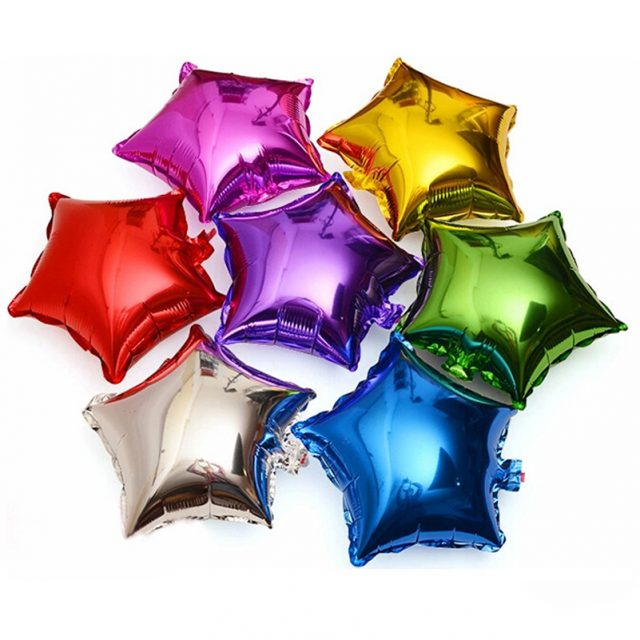Five Pointed Star Aluminum Foil Balloons
