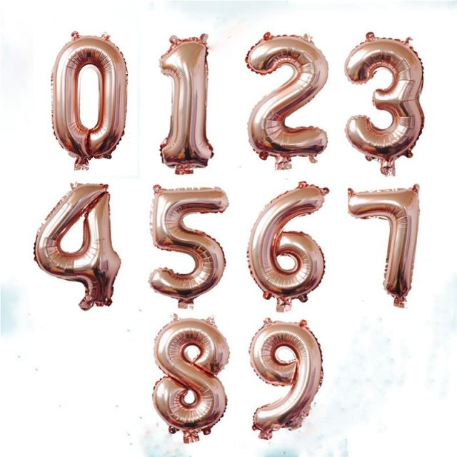 Number Shaped Foil Balloons for Birthday Party