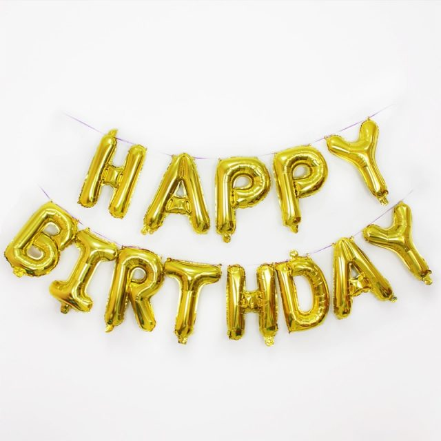 Letters Shaped Balloons for Birthday Party
