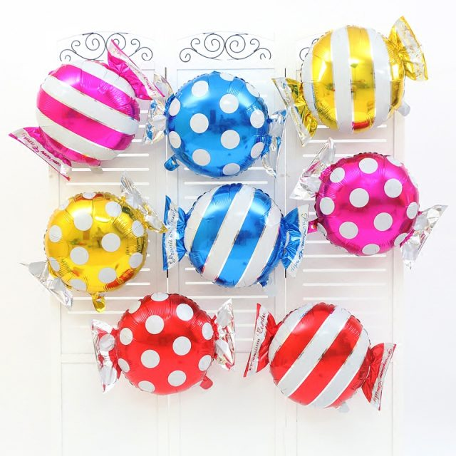 Candy Shaped Birthday Balloons