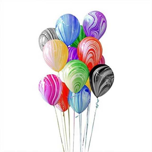 Rainbow Latex Balloons Set