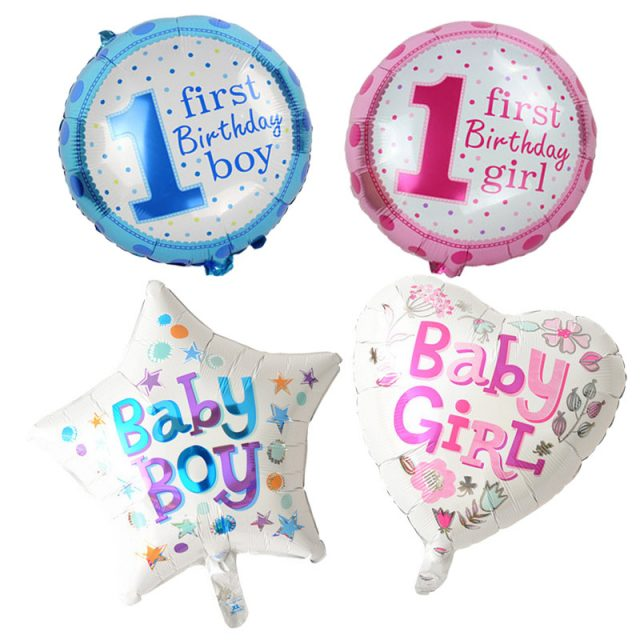 Birthday Foil Balloons Set for Baby's Party