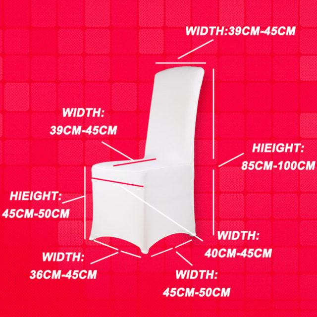Elastic White Wedding Chair Covers, 100 Pcs Set