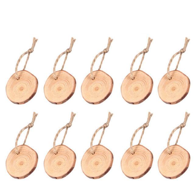 DIY Rustic Wedding Wood Labels 50 pcs Set