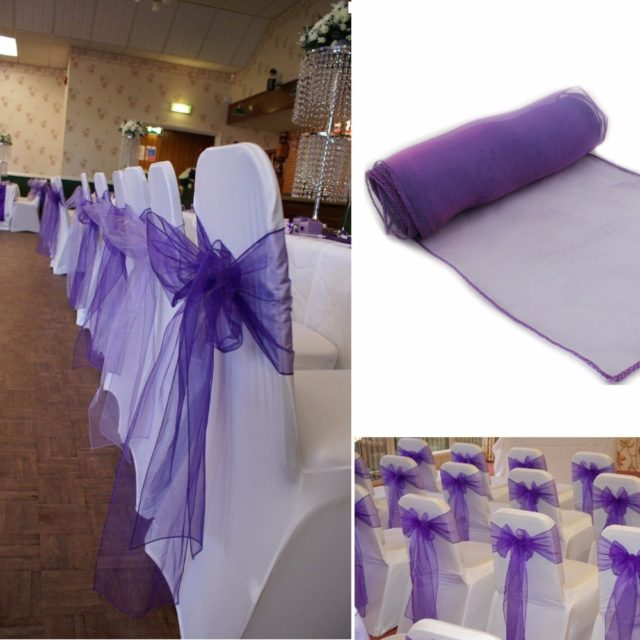 Wedding Chair Sashes with Bow