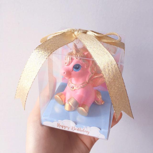 Mini Unicorn Cake Candle